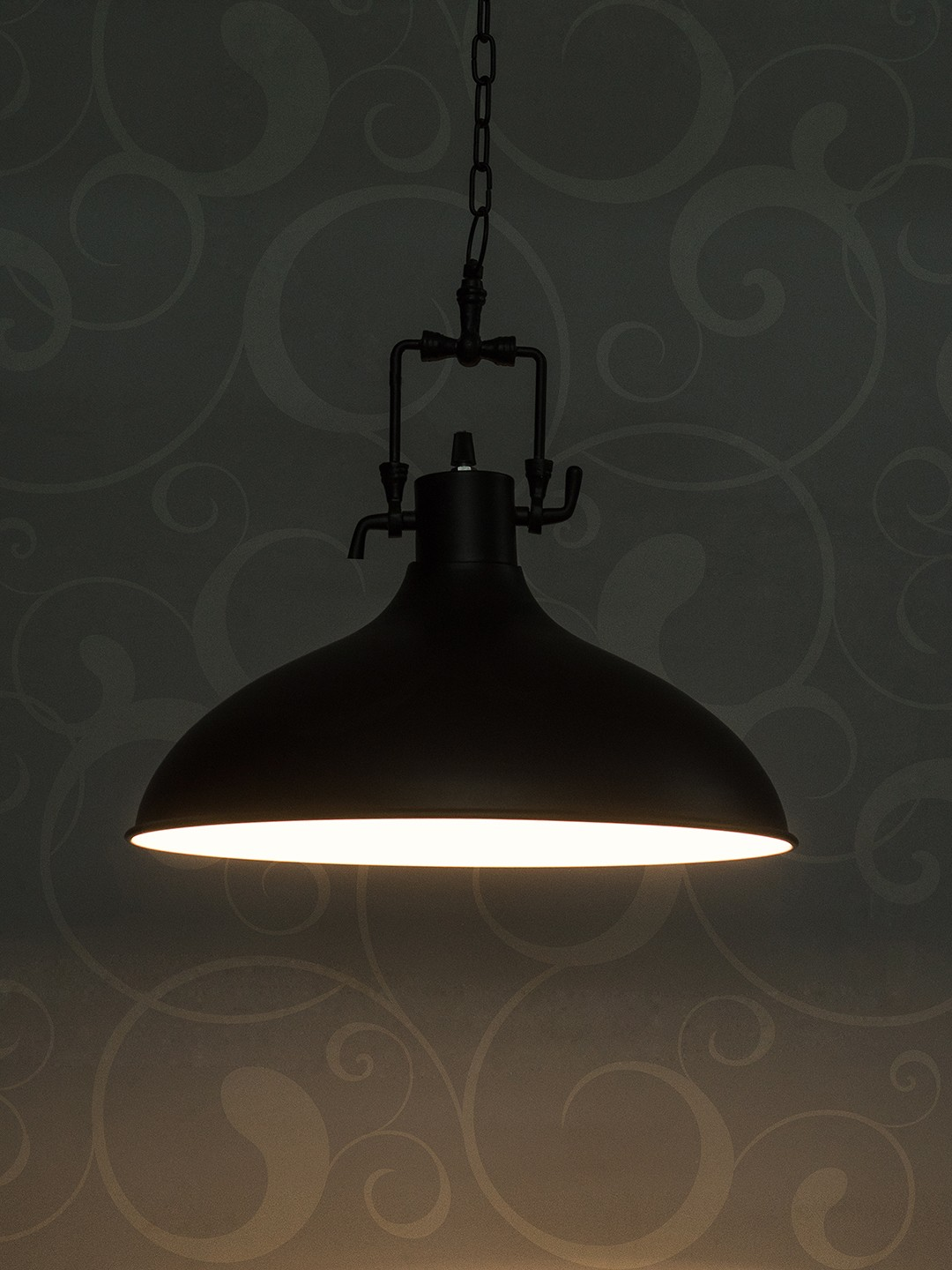 Industrial Black Funnel Pendant Light