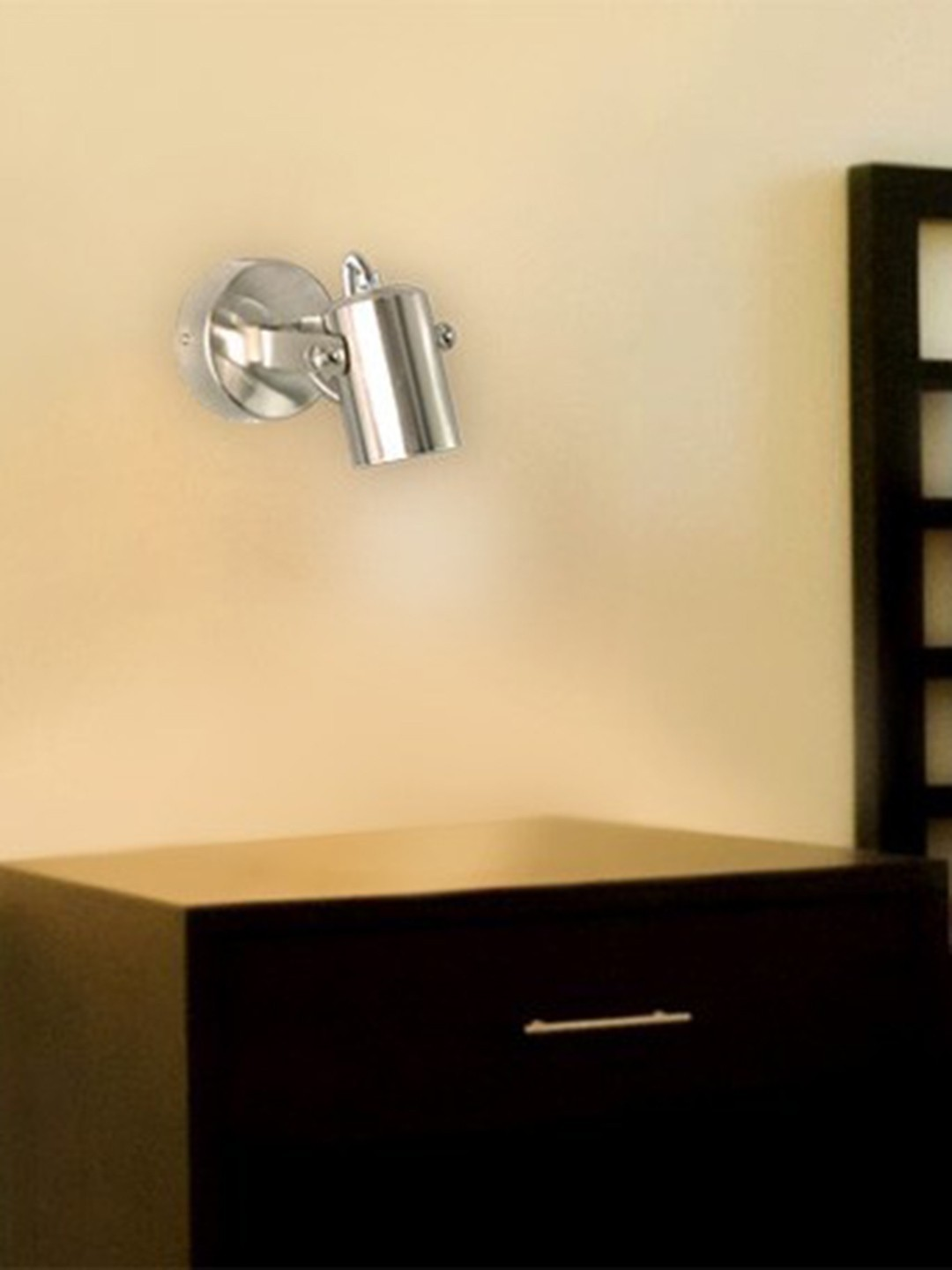 Satin Steel Bedside Cylindrical SpotLED Wall Lamp