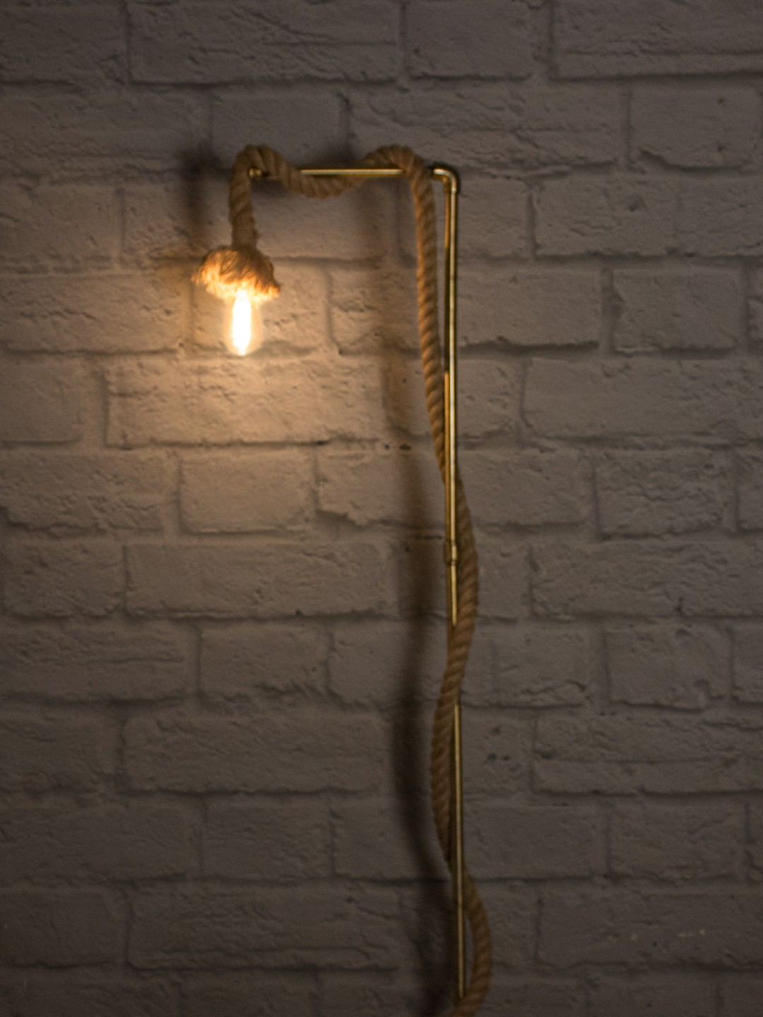 Rope Barn Wood Floor Lamp