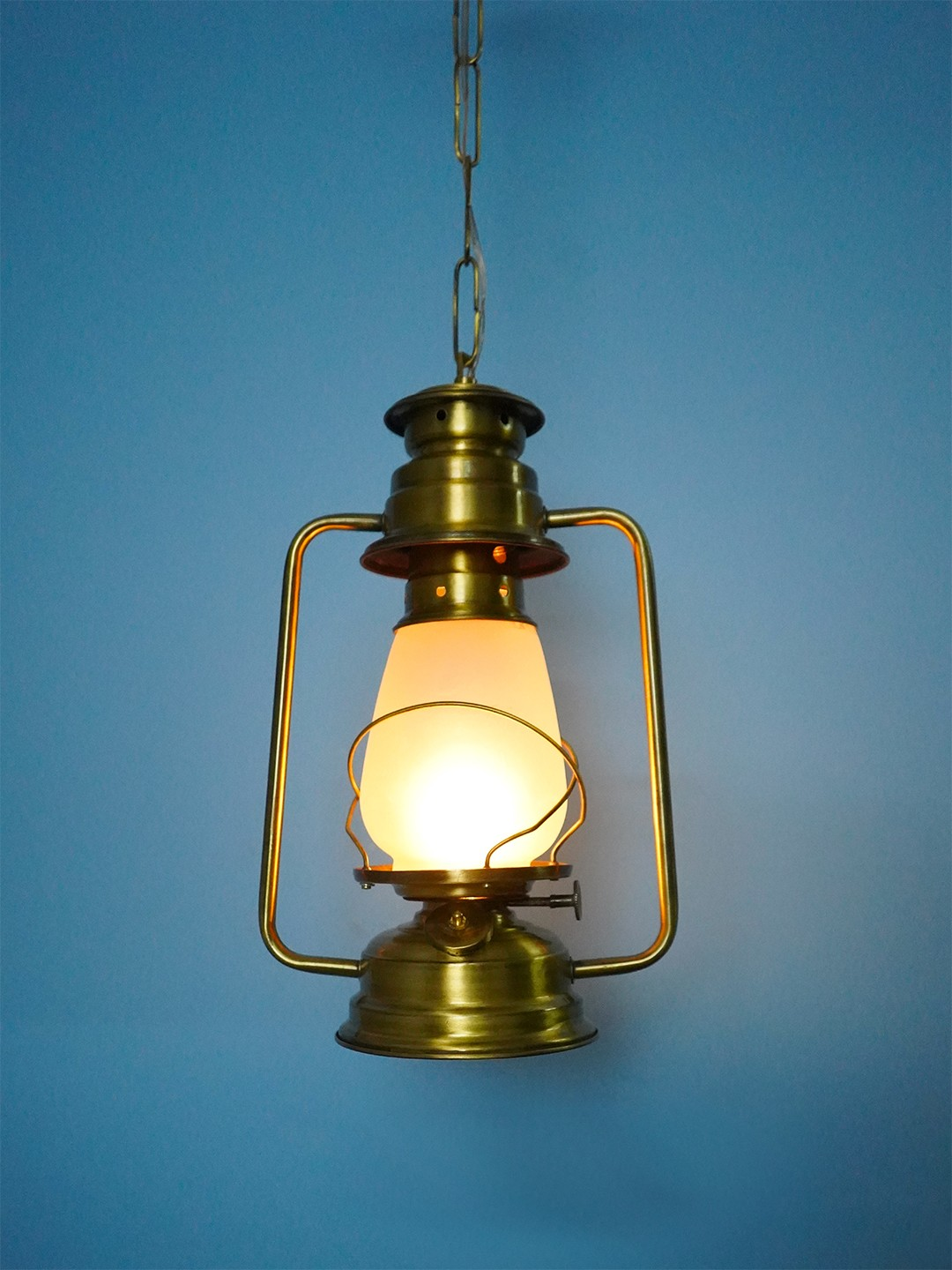 Vintage Brass Lantern Hanging Light