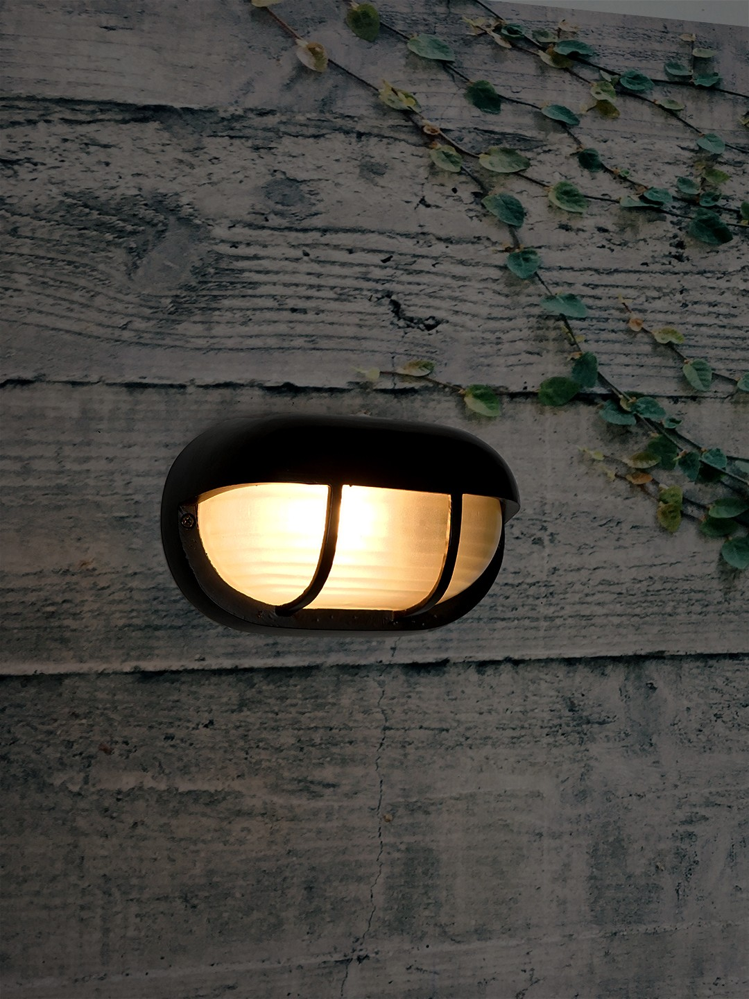 Classic Rounded Black Outdoor Bulkhead Light