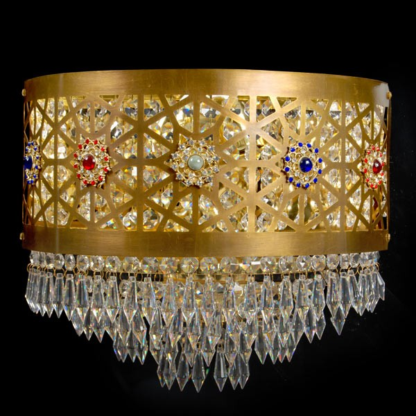 Kohinoor 2 Light Crystal Wall Light