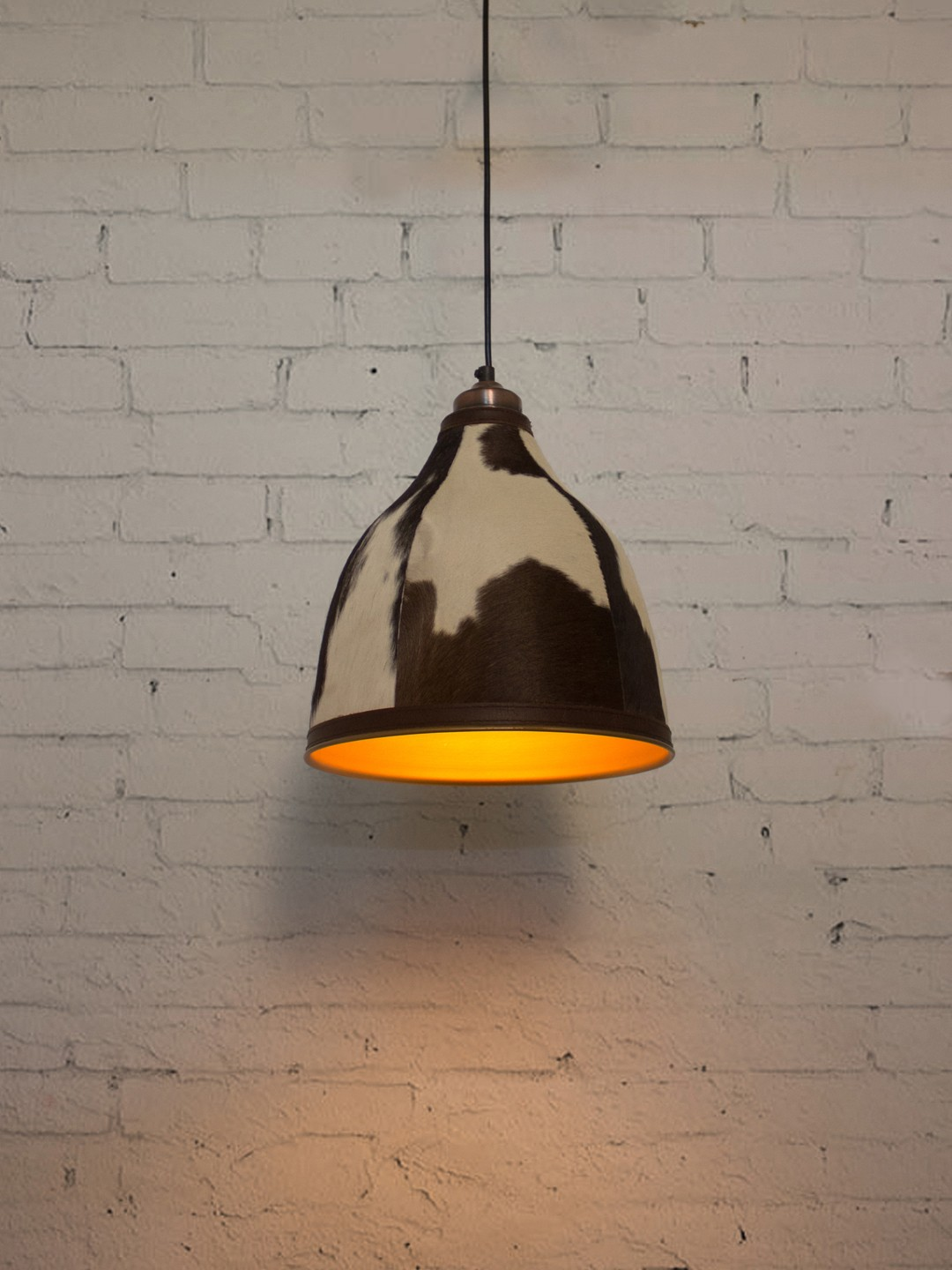 Leather Hair Pendant Light