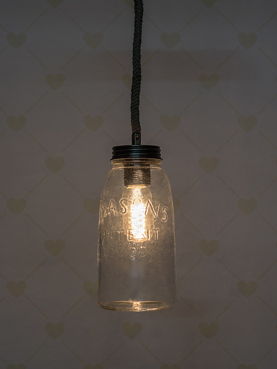 Mason Jar Hanging Pendant Light