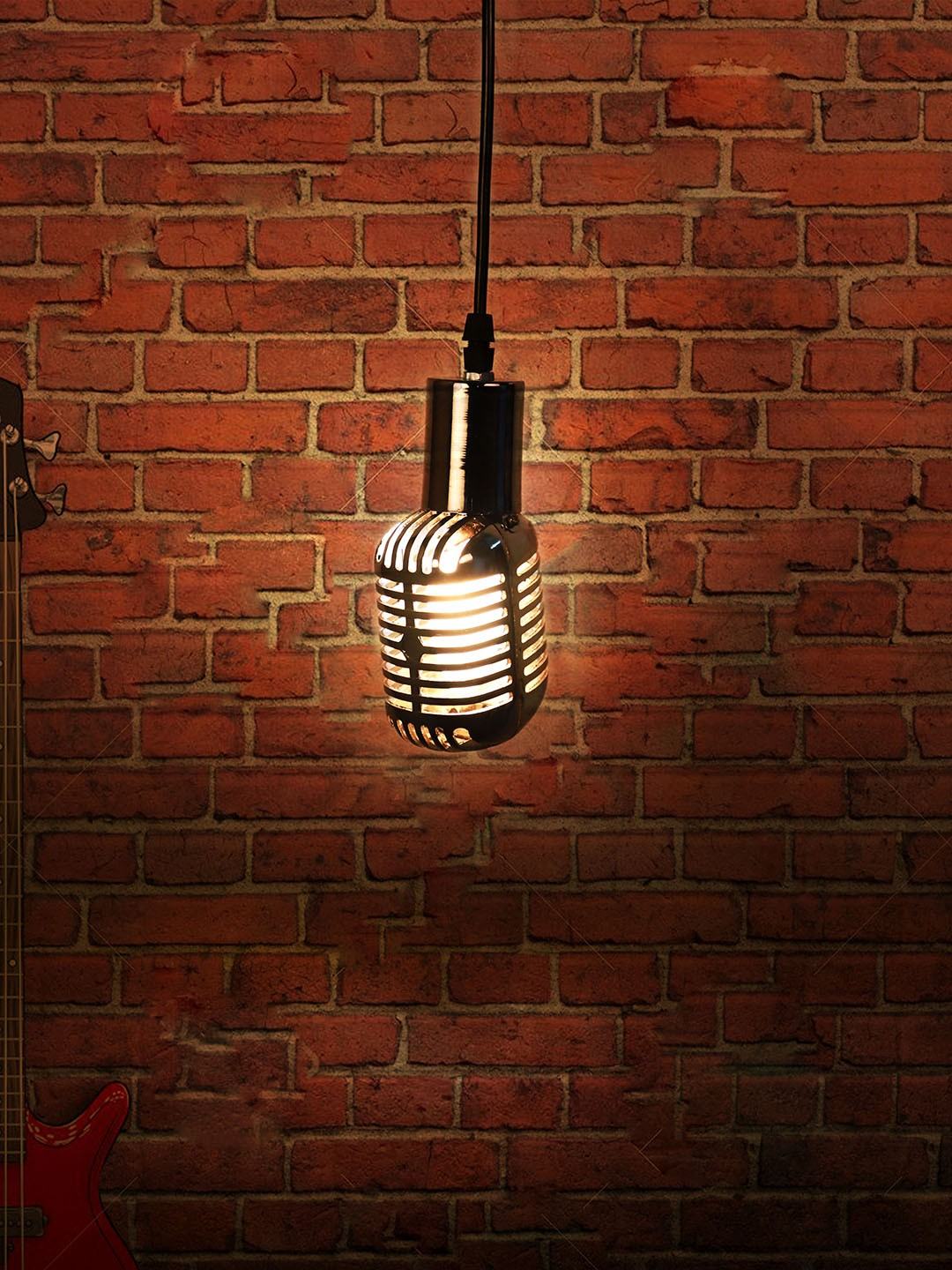Jazz Microphone Pendant Light