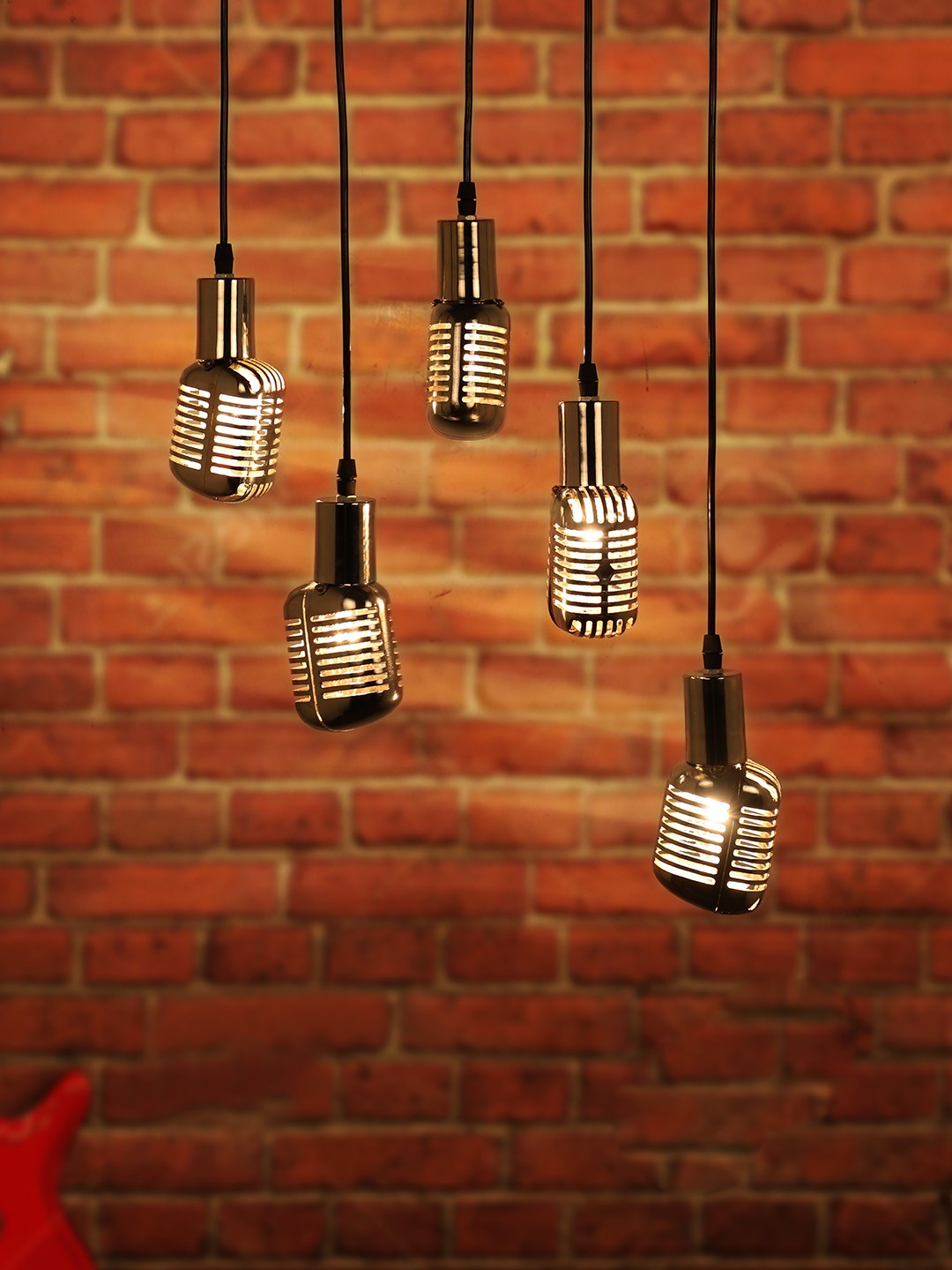 Set of 5 Jazz Microphone Pendant Light