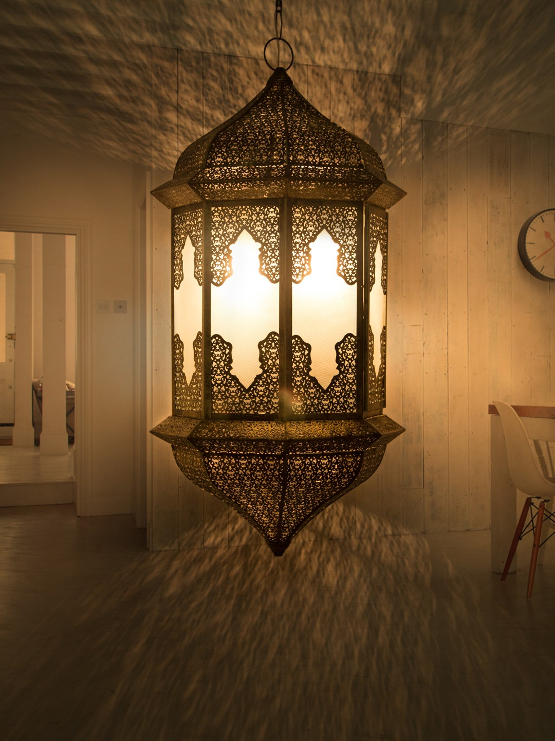 Moroccan Glass XL Hanging Pendant Light