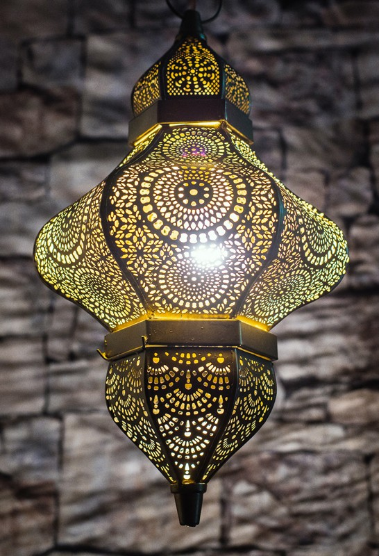 Moroccan Gold Hanging Pendant Light