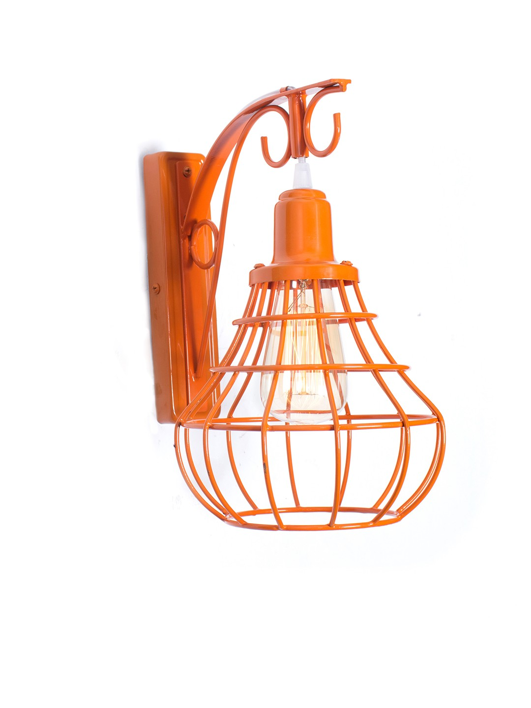 Orange Cage Bell Wall Lamp
