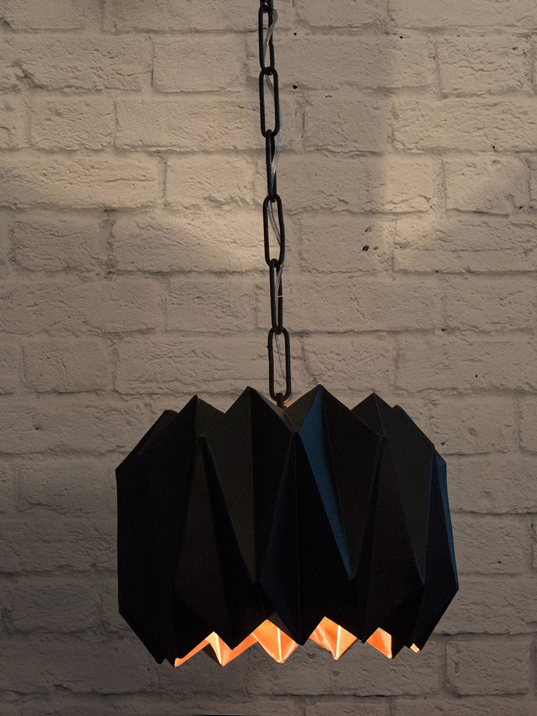 Origami Dome Black Pendant Hanging Light