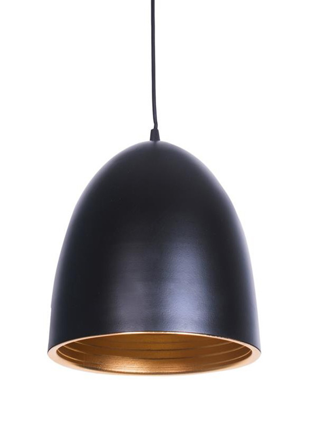 Modern Oval Dome and Golden Ripple Hanging Pendant Light