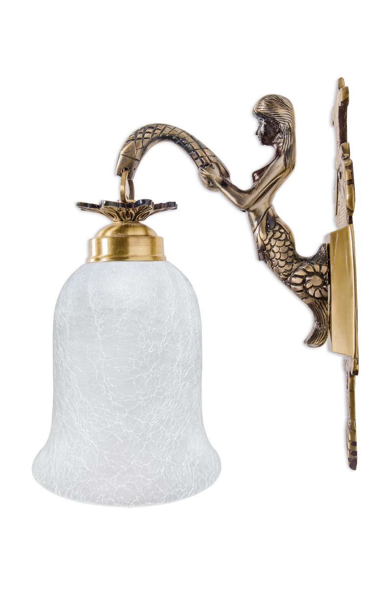 Mermaid single crackle wall light