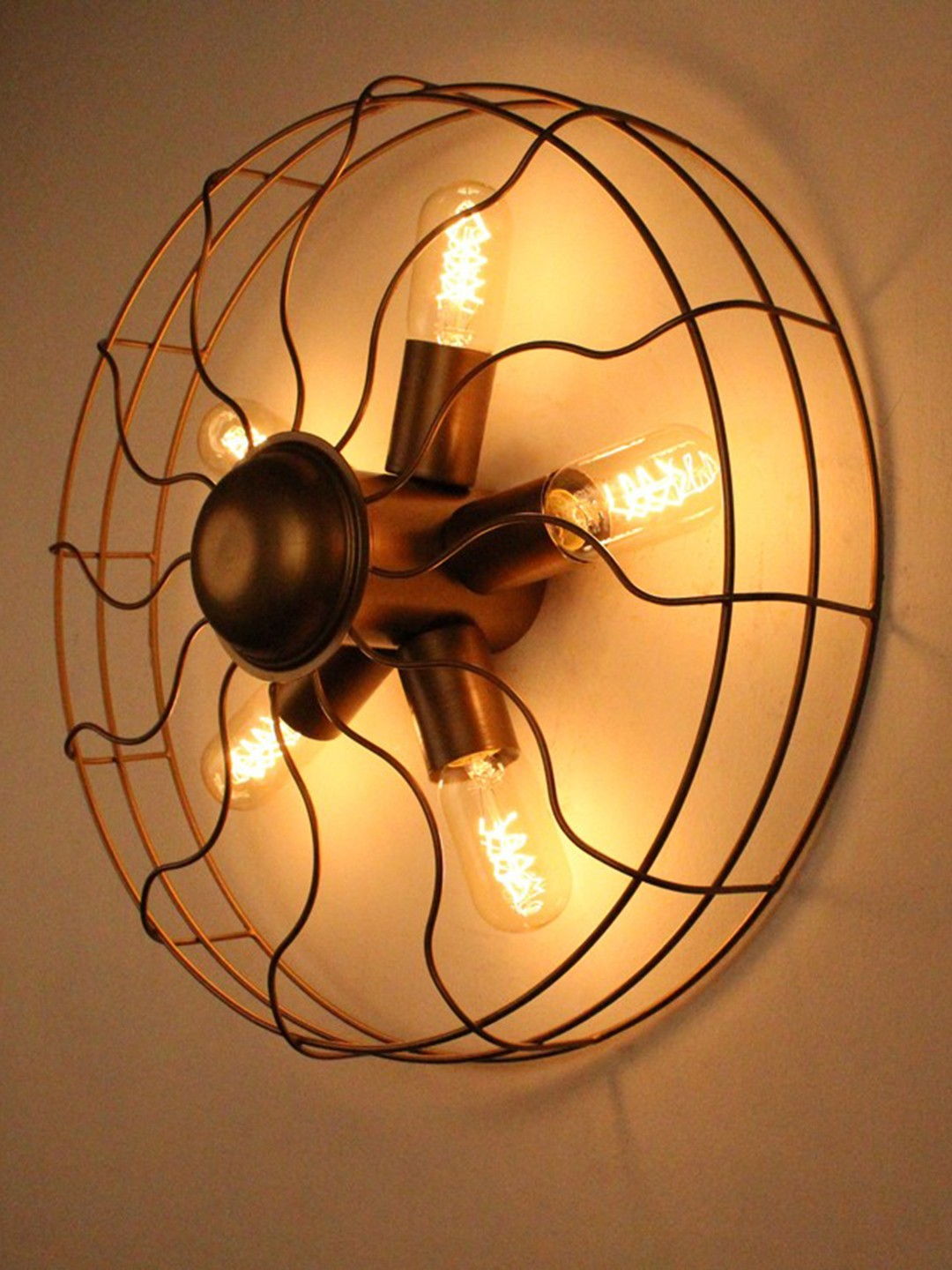 Vintage Fan 5 Light Wall Light