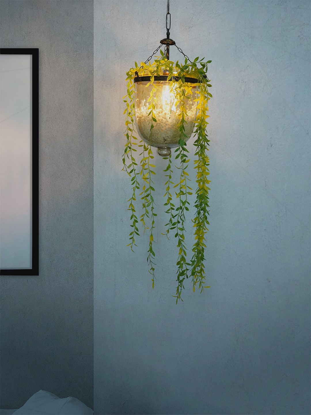 Planter Glass Jar Hanging Pendant Light