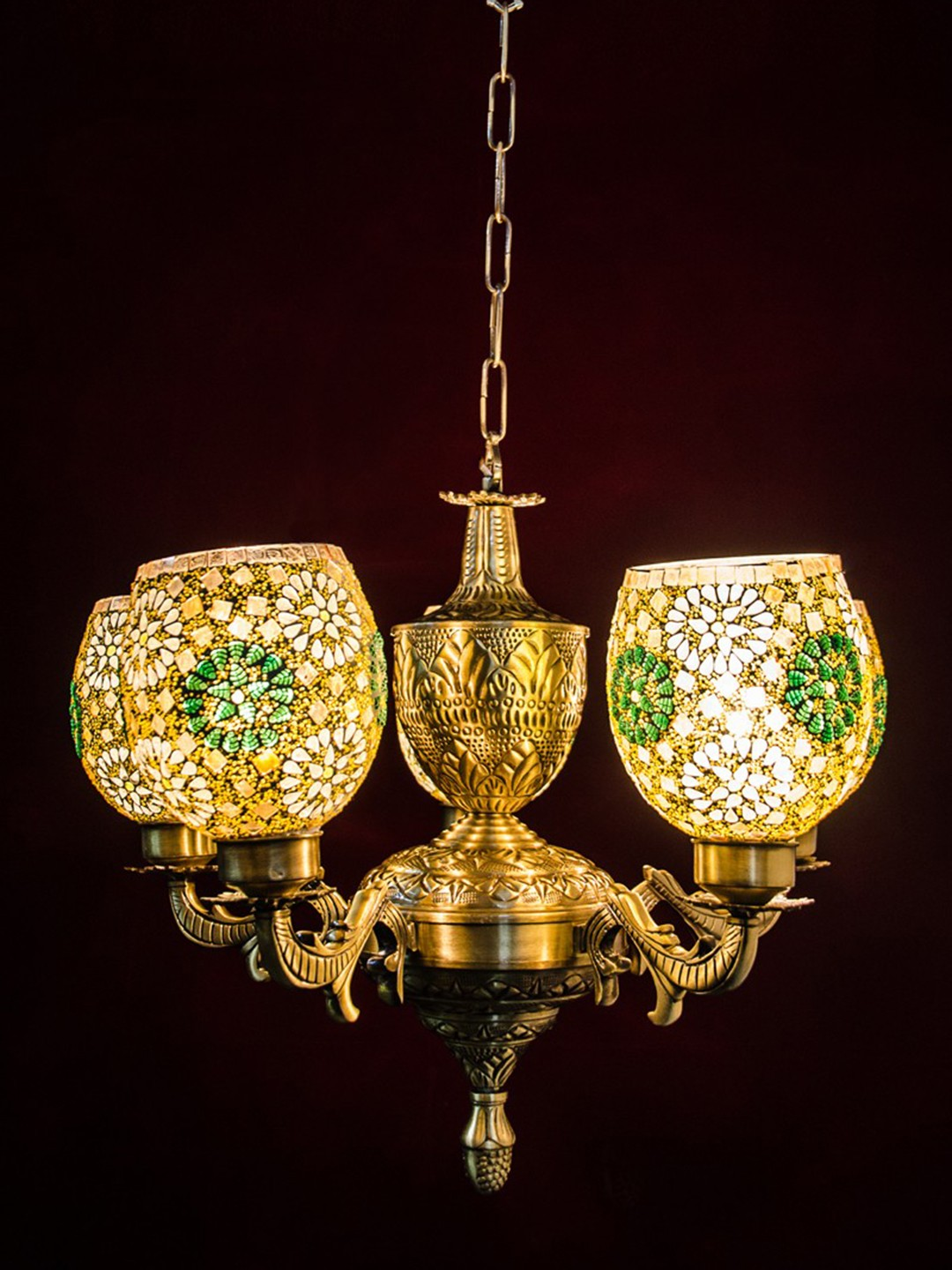 Traditional 5 Lights Urn Chandelier