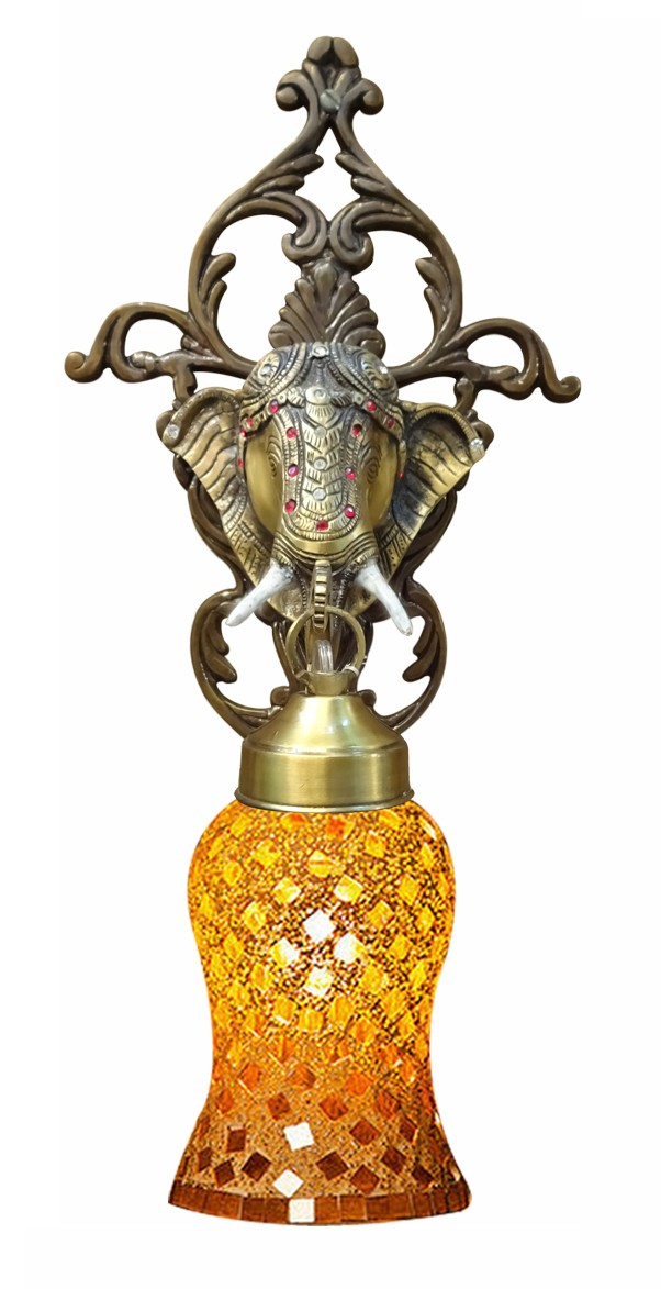 Majestic Elephant Moti Wall Sconce