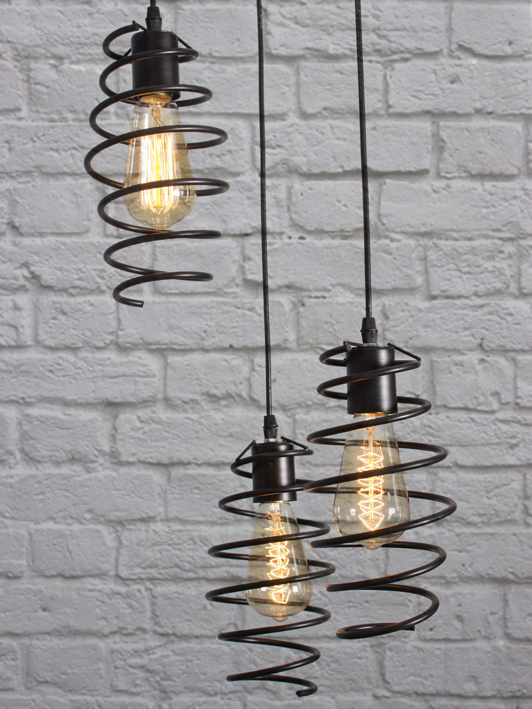 Shocker Coil  3 Light Pendant Light