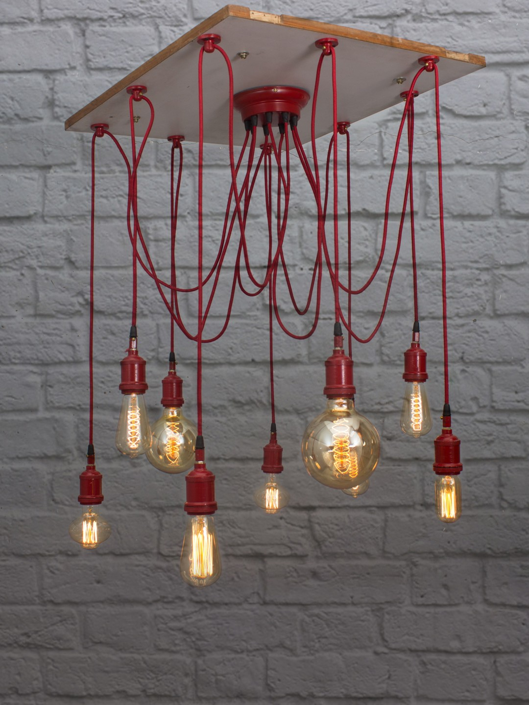 Red Spider 9 Light Chandelier