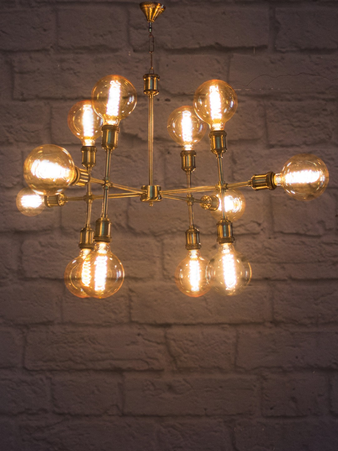 Molecular 12 Light Urban Chandelier