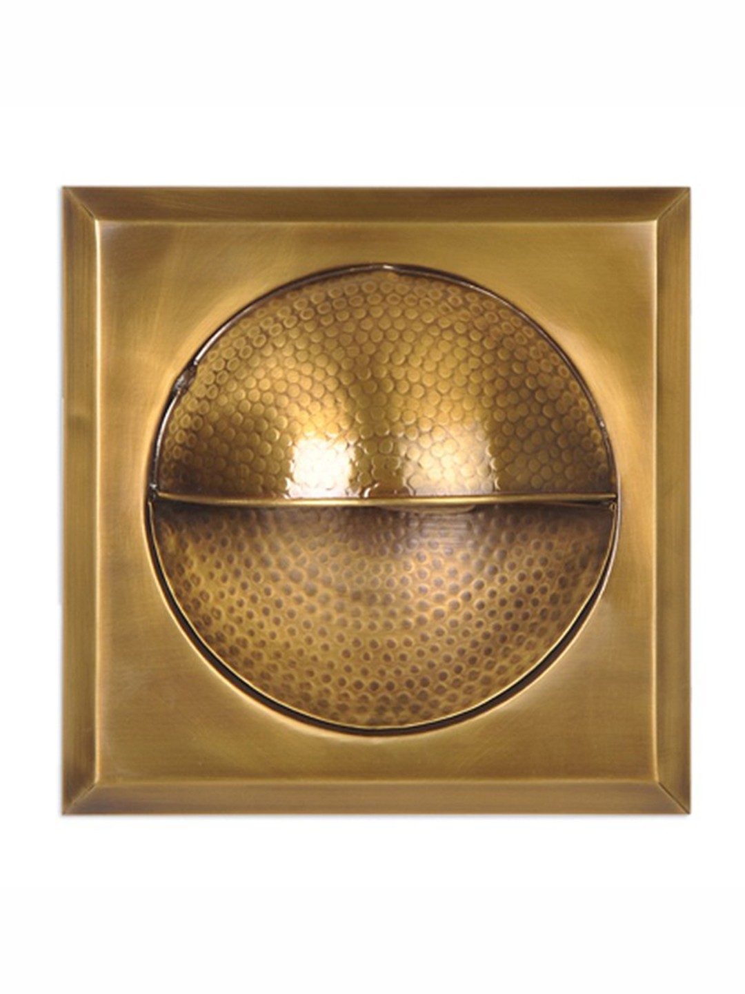 Square hammered Antique Brass Wall Sconce