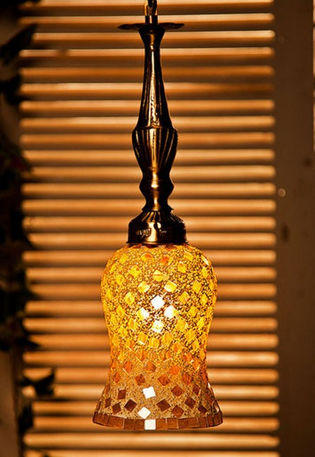 Golden Moti Brass Hanging Light