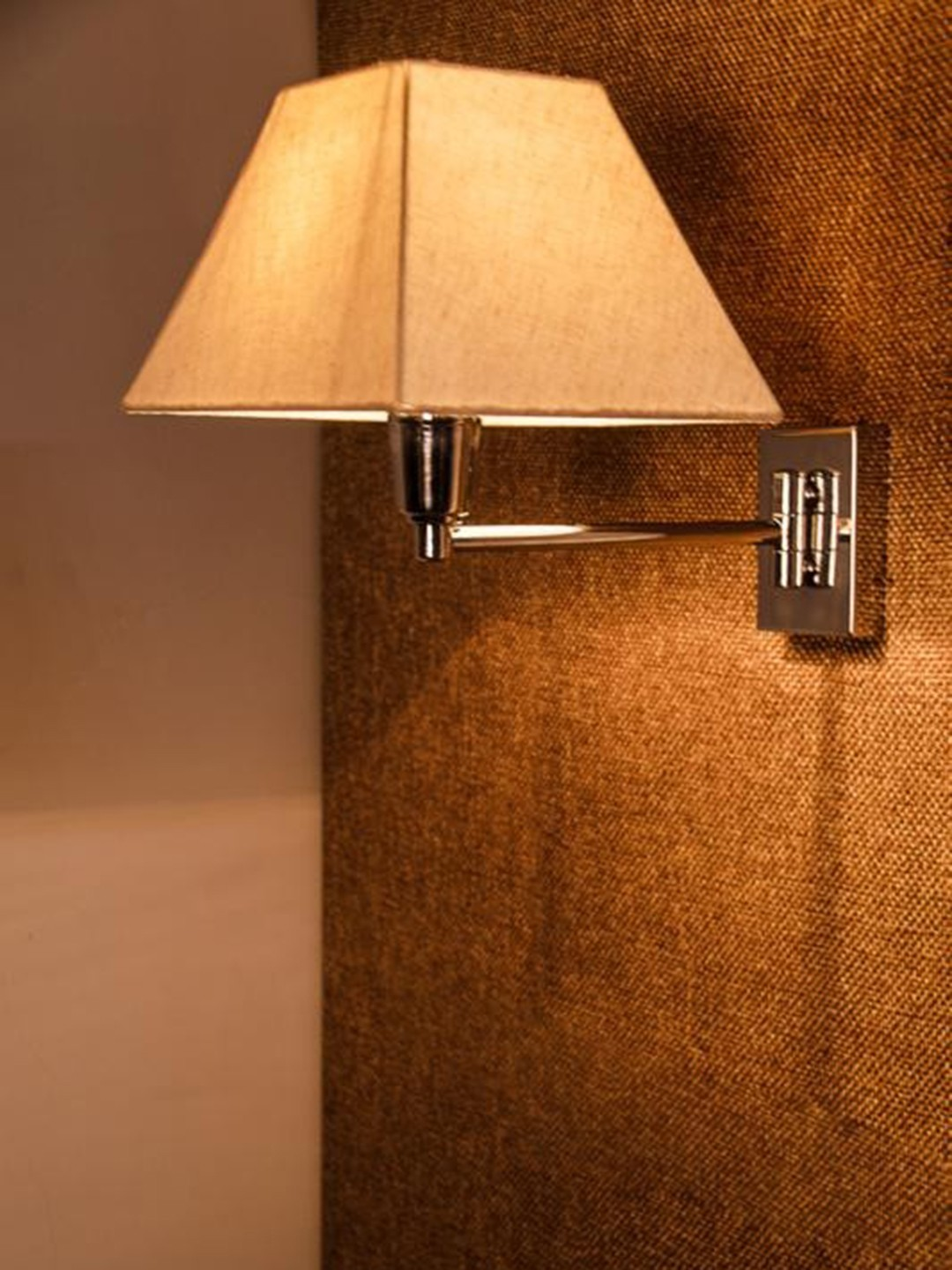 Classy Swivel Chrome Bedside Wall Sconce