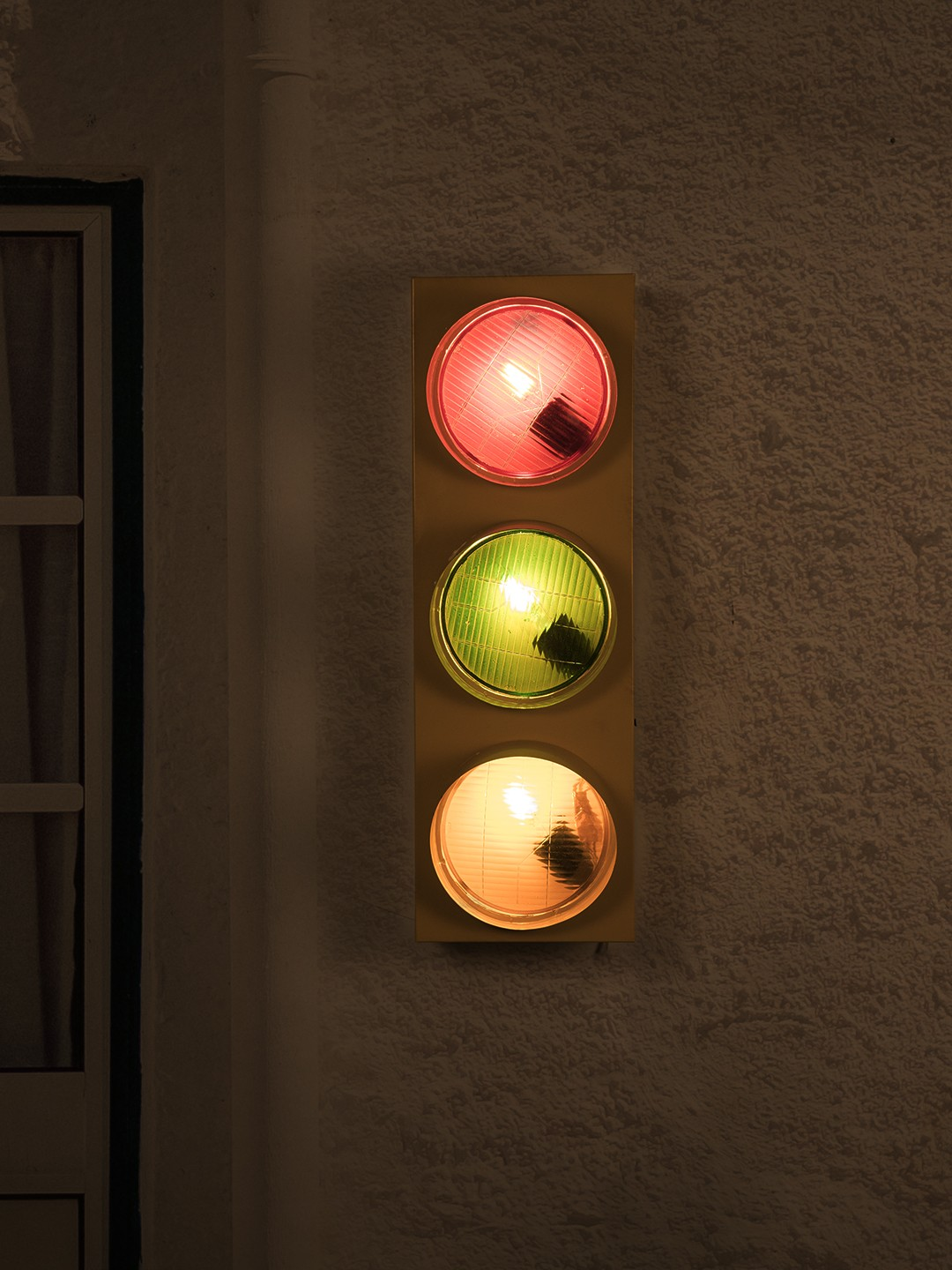 Loft Style Vintage Industrial Traffic Light Wall Light