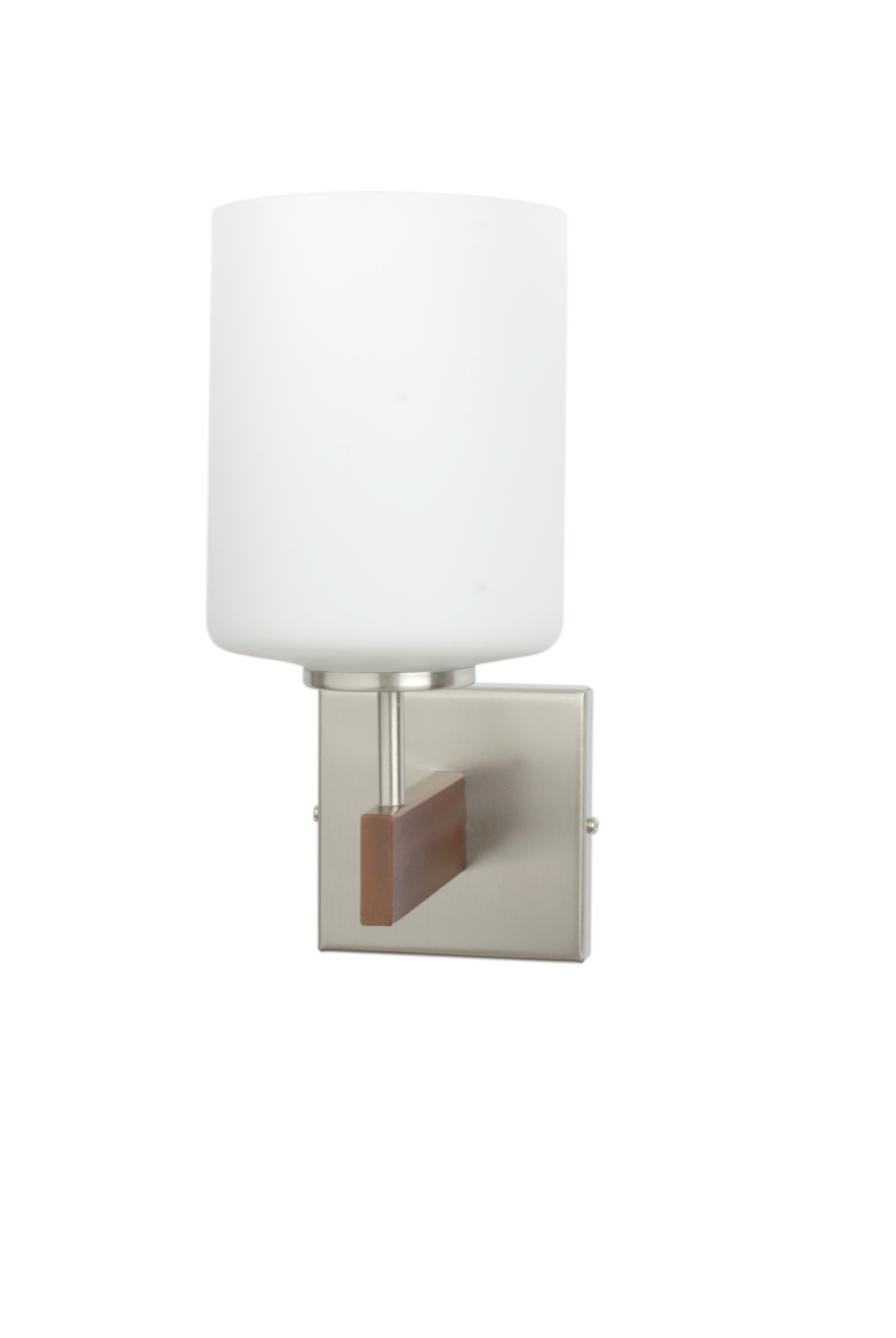 Brown And Steel Single Cylinder Wall Light