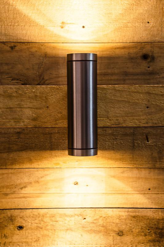 Up & Down Stainless Steel Outdoor Cylinder Wall Light