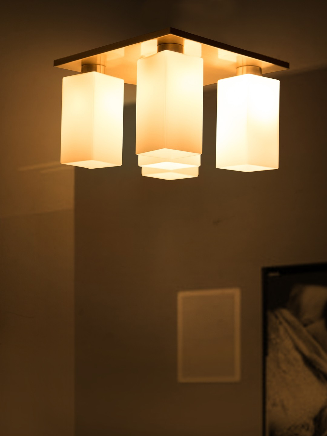 Modern Square 5 Light Flush Chandelier