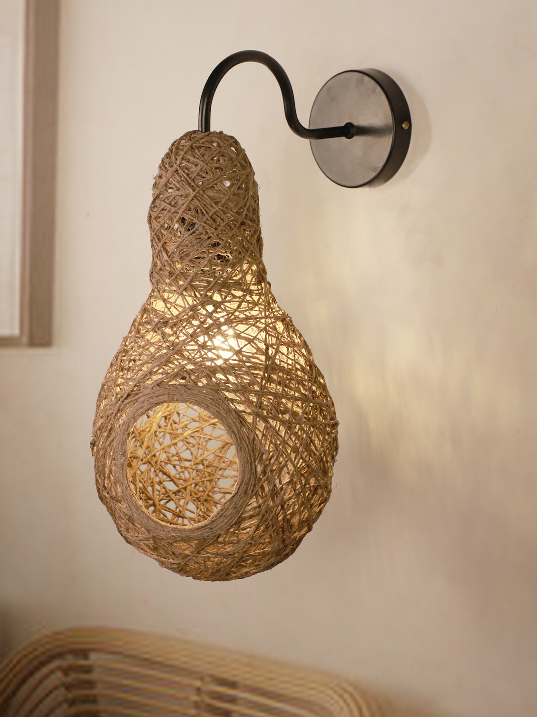 Weaver's Nest Brown String Wall Sconce