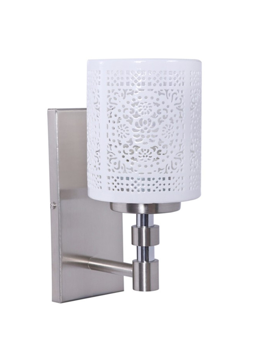 Openwork Porcelain Single Wall Sconce