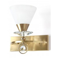 Luxurious Brushed Brass and Crystal Single Wall Light