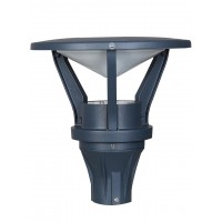 Metro 12 Watt LED Outdoor Gate Light in Cast Aluminium with Warm White Indirect Glare Free Light