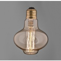 Vintage Bowl squirrel cage filament bulb.