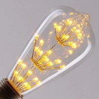 Vintage Star Pear LED Filament Bulb