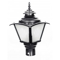 Classic Black Big Outdoor Gate Light