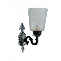 Black & Silver Mystique Single Aluminium Wall Sconce