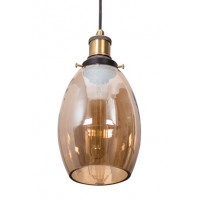 Contemporary Lustrous Oval Glass Hanging Light