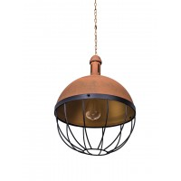 BBQ Rusted Hanging Pendant Light