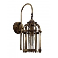 Antique Finished Small Birdcage Wall Light
