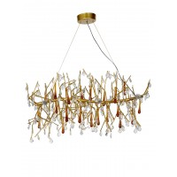 Amazing Branches with Amber Drop Crystal in Modern Amazing Romantic Branches  6 Light Chandelier with Amber Drop Crystals