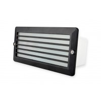 Recessed Water Resistant Black Louver Foot Light