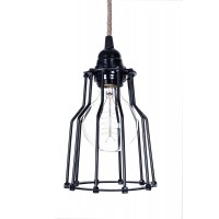 Industrial Cage Rustic Single Pendant Light