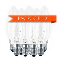 12 Pack Osram 40 W E14 Candle Clear Bulb