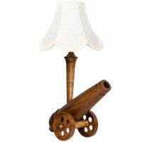 wooden cannon table lamp