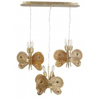 Butterfly Shape Wall Decor Light Hanging Wall Light in Gold Colour Fancy Wall Light for Living Room, Bedroom - Home Decor Items