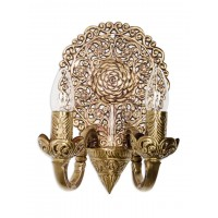 Ornate 2 light shield wall sconce