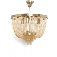 Glamorous Draping Gold Chain Chandelier
