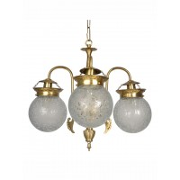 Etched Globe Small 3 Light Chandelier